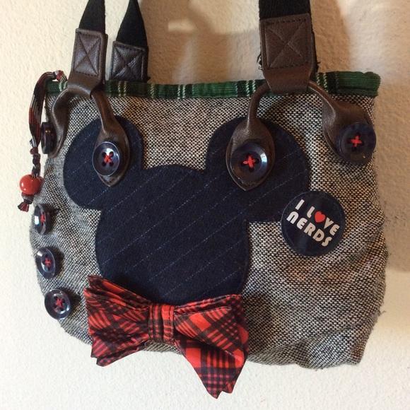 Disney Handbags - Disney Nerdy Nerd Mickey Mouse Mini Purse Bag